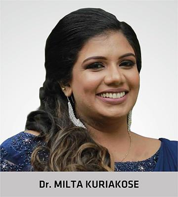Dr Milta Kuriakaose for critical care